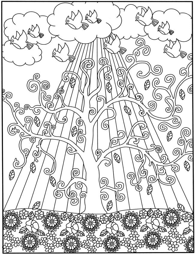 e design scapes coloring pages - photo#44