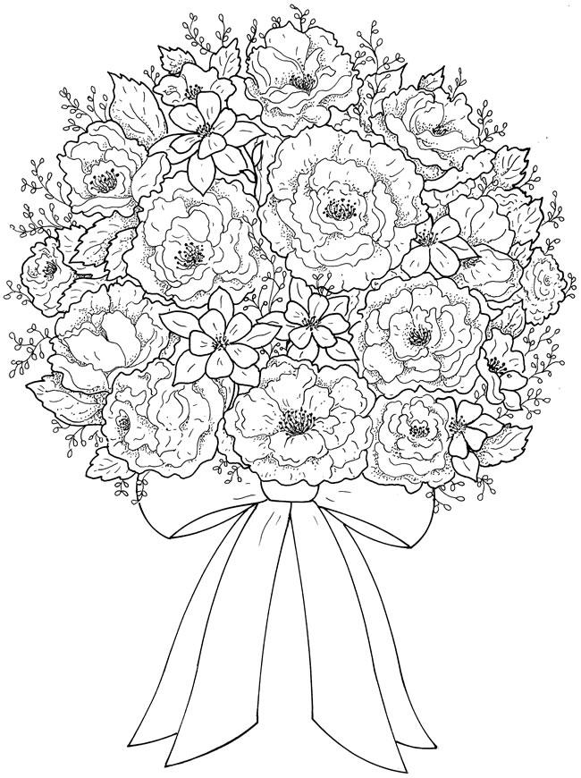 Creative Haven Beautiful Flower Arrangements Coloring Book 8577251