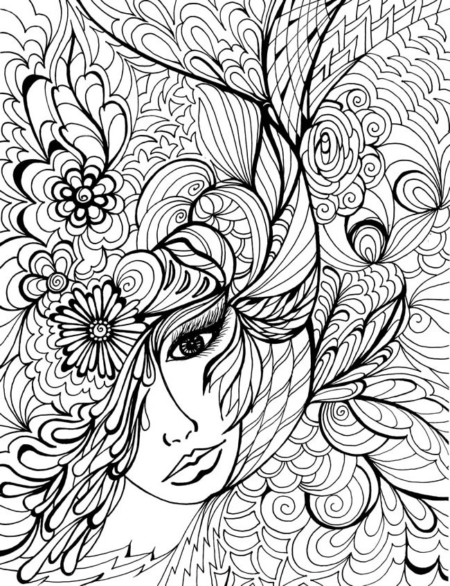 creative coloring pages for teens - photo#4