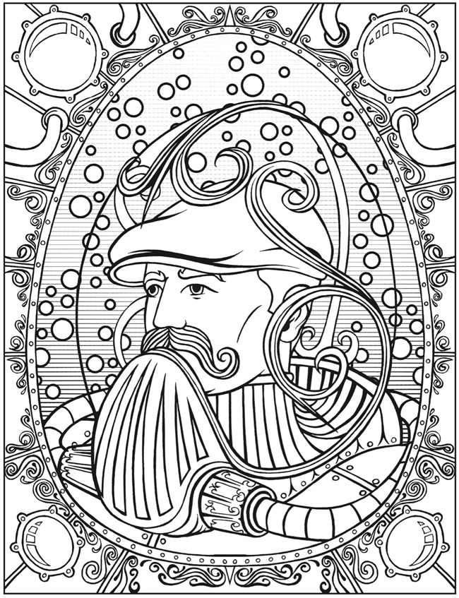 steampunk coloring pages - welcome to dover publications