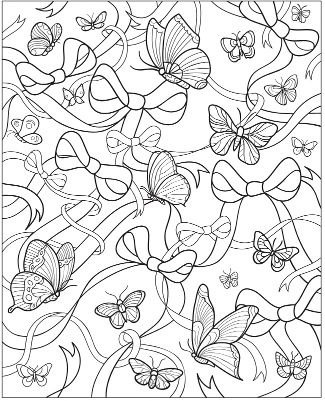 Paisley Butterfly Colouring Pages