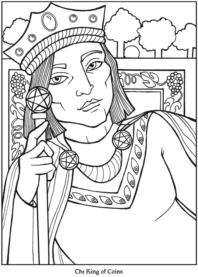 Tarot coloring pages