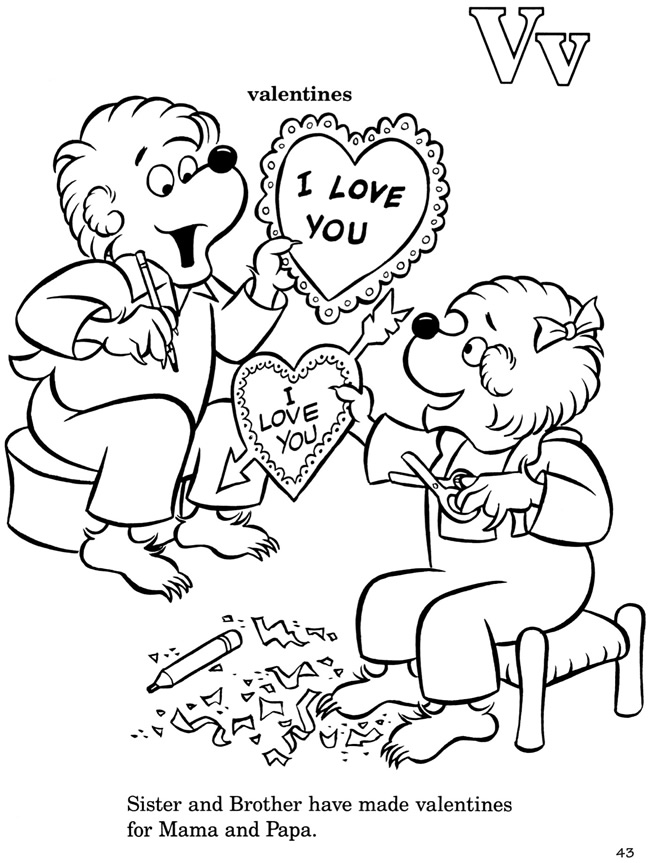Welcome to dover publications for Berenstain bears coloring pages