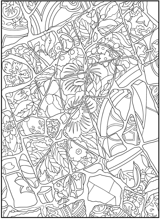 Animal Mosaic Colouring Pages : Animals mosaic colouring pages page