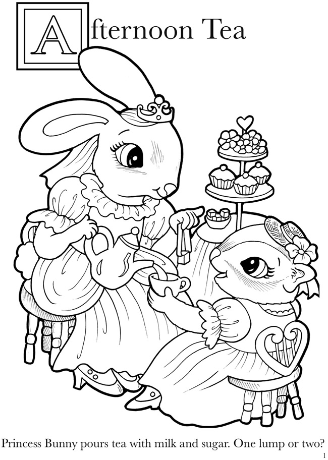princess bunny coloring pages | Welcome to Dover Publications