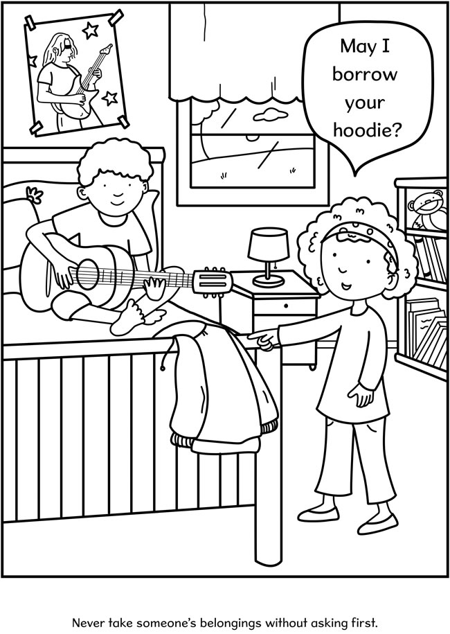 free good manners coloring pages - photo#25