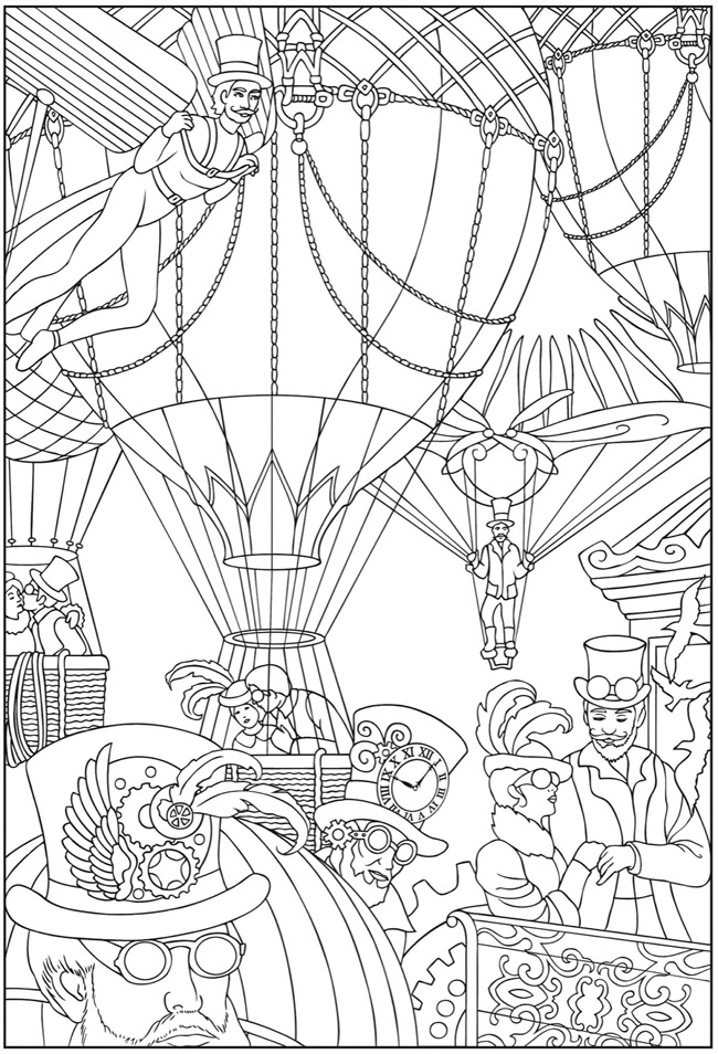 Steampunk Colouring Pages