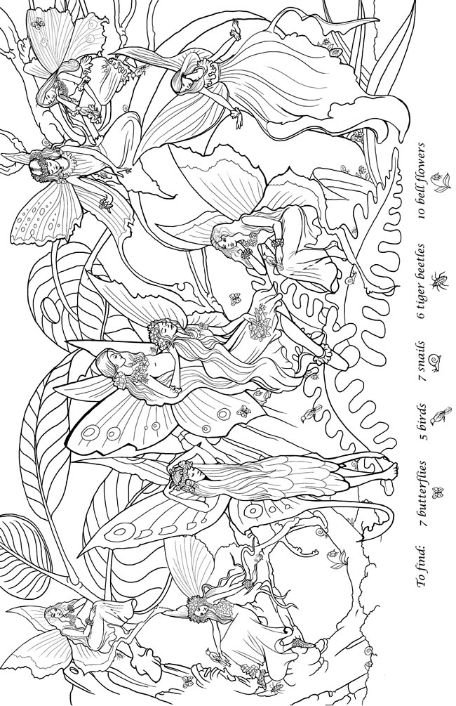 Garden fairy coloring pages ~ Welcome to Dover Publications