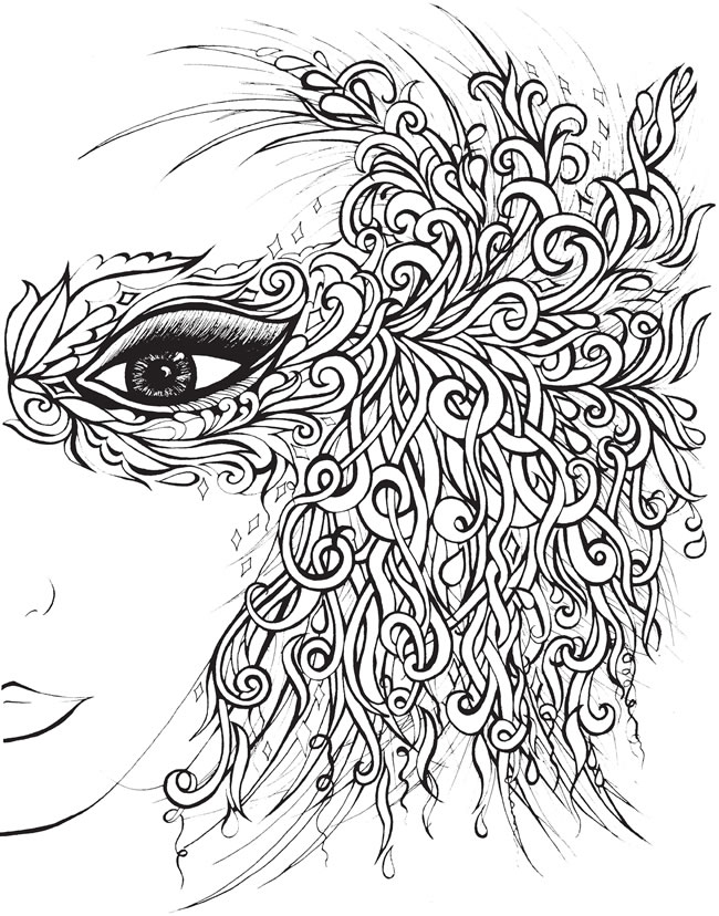 Beautiful Women Portraits - Coloring Book: Color 30 Gorgeous Women ... | 828x650