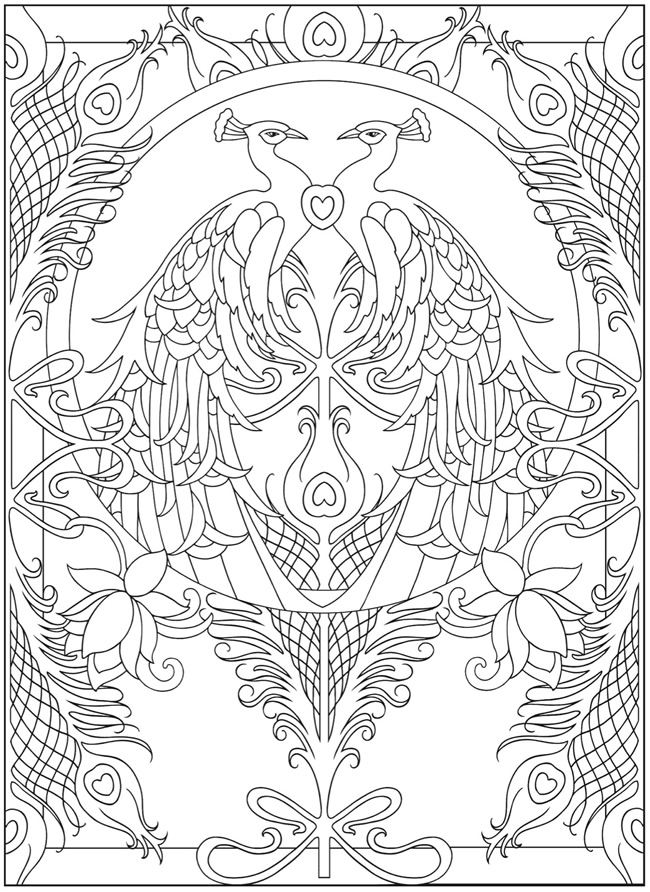1000 Images About Peacock Coloring Pages On Pinterest