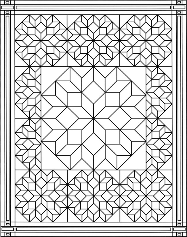 Coloring Pages Quilt Squares : Coloring pages quilt blocks