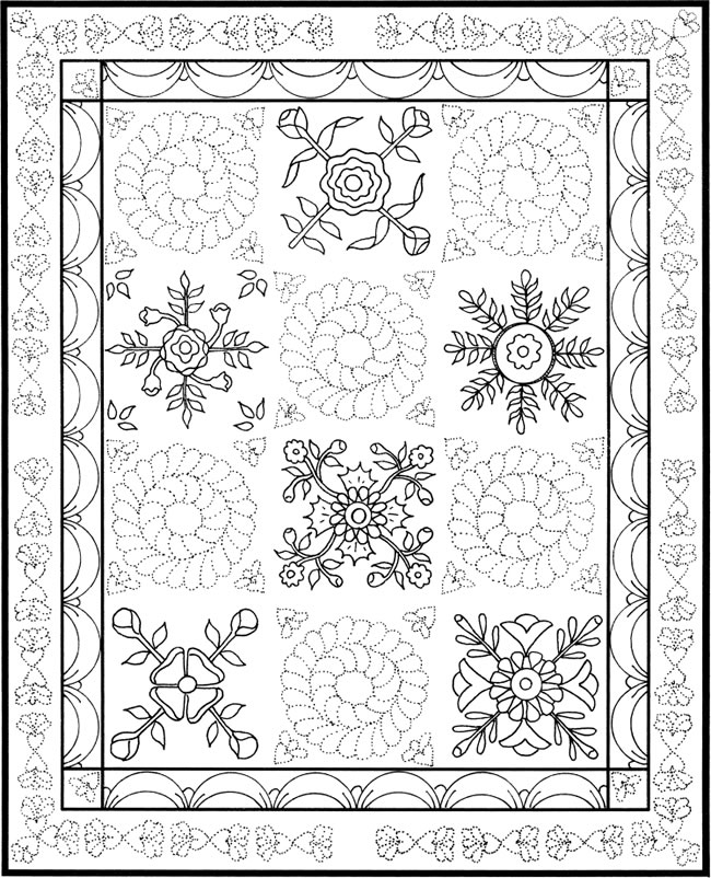 coloring pages for quilts - photo#26