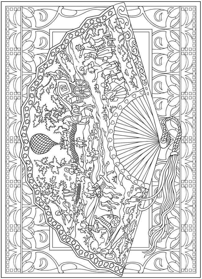Free Coloring Pages Of Creative Therapy Dover Coloring Books