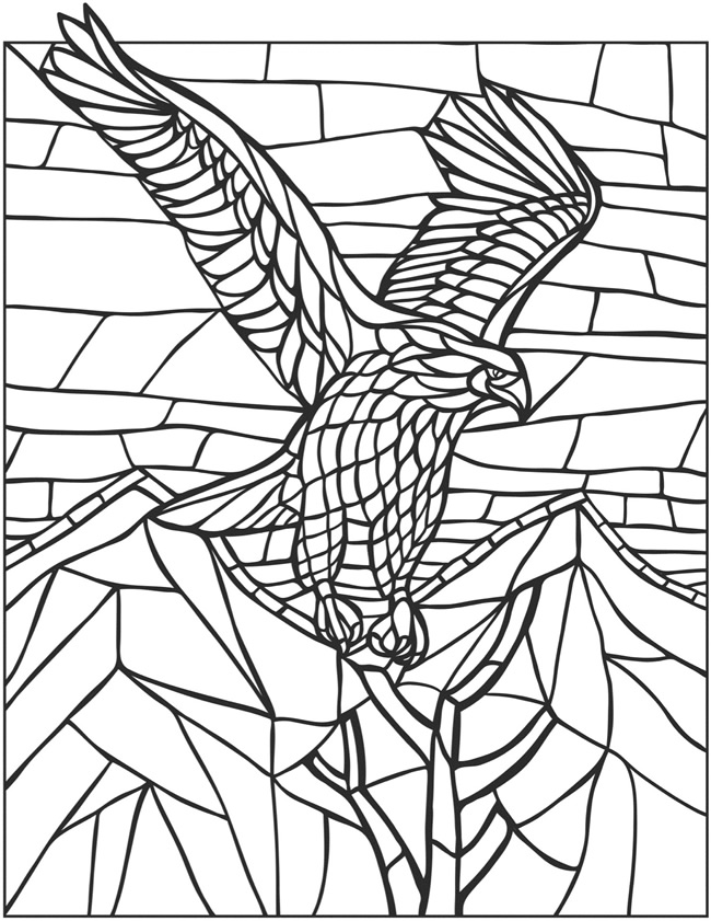 Animal Mosaic Colouring Pages : Mosaic animals colouring pages