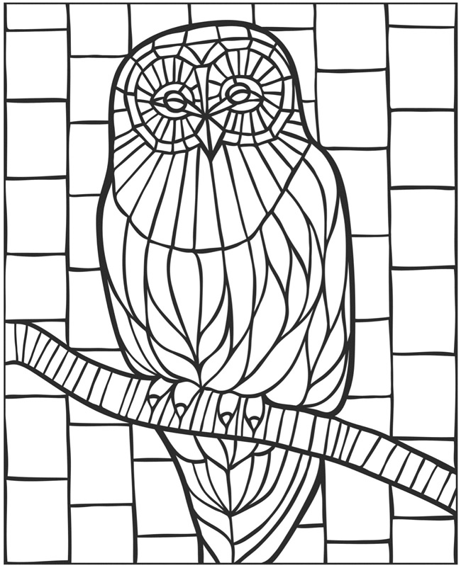 Animal Mosaic Colouring Pages : Welcome to dover publications