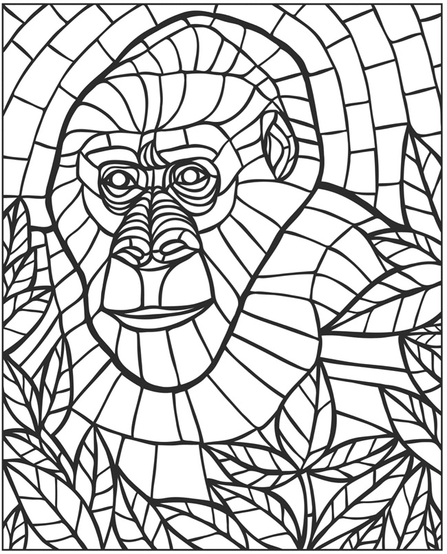 Animal Mosaic Colouring Pages : Animals mosaic colouring pages