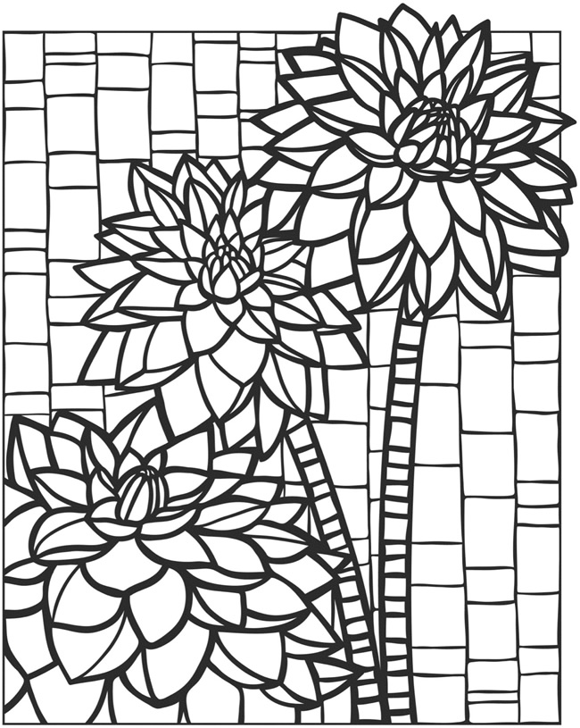 This is a picture of Vibrant mosaic coloring pages