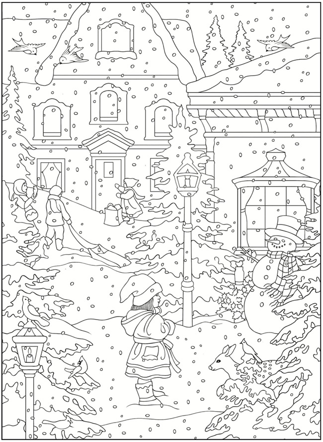 Clifford Coloring Page - clifford snow | All Kids Network | 888x650
