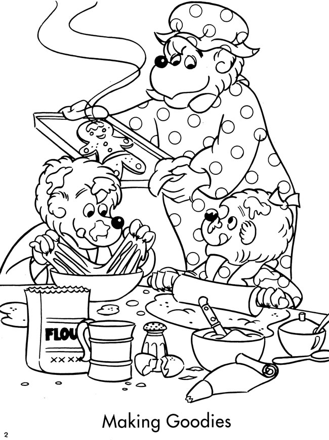 Welcome To Dover Publications Berenstain Bears Tree Coloring Page