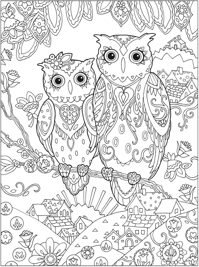 picture relating to Free Printable Owl Coloring Pages identify Welcome towards Dover Textbooks