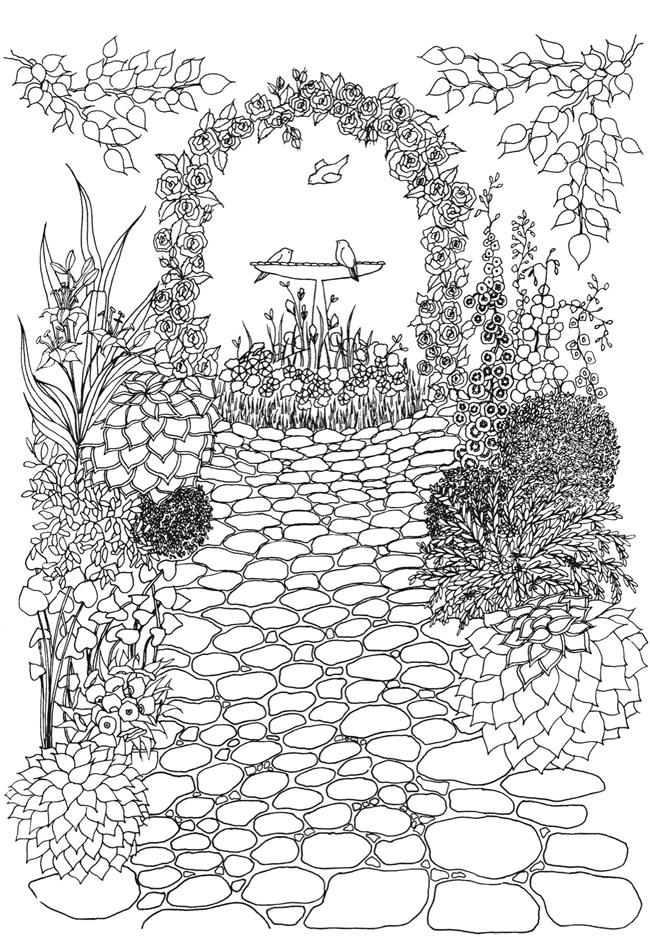 Welcome to dover publications Amazon coloring books for adults secret garden