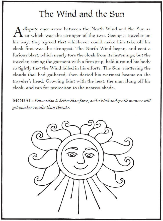 aesops fables coloring pages - photo#36