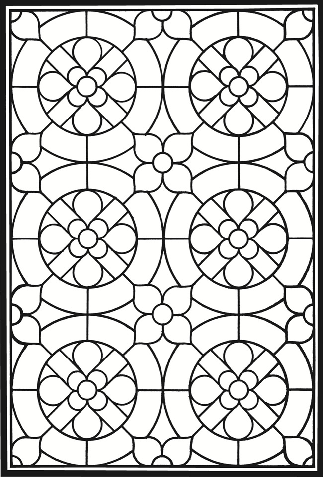 coloring pages geometric staind glass - photo#17