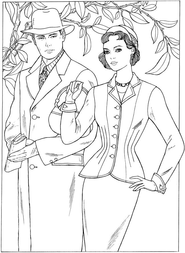 vintage coloring pages 1950s - photo#3