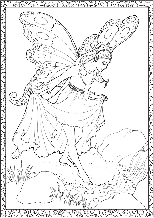 fairy coloring book pages - photo#32