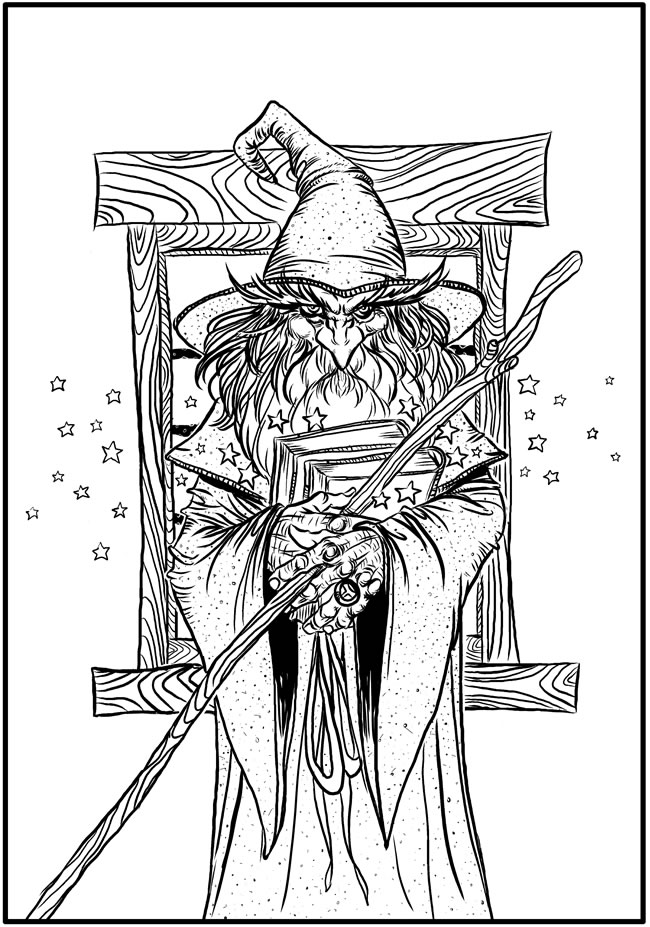 elves coloring pages images witch - photo#31