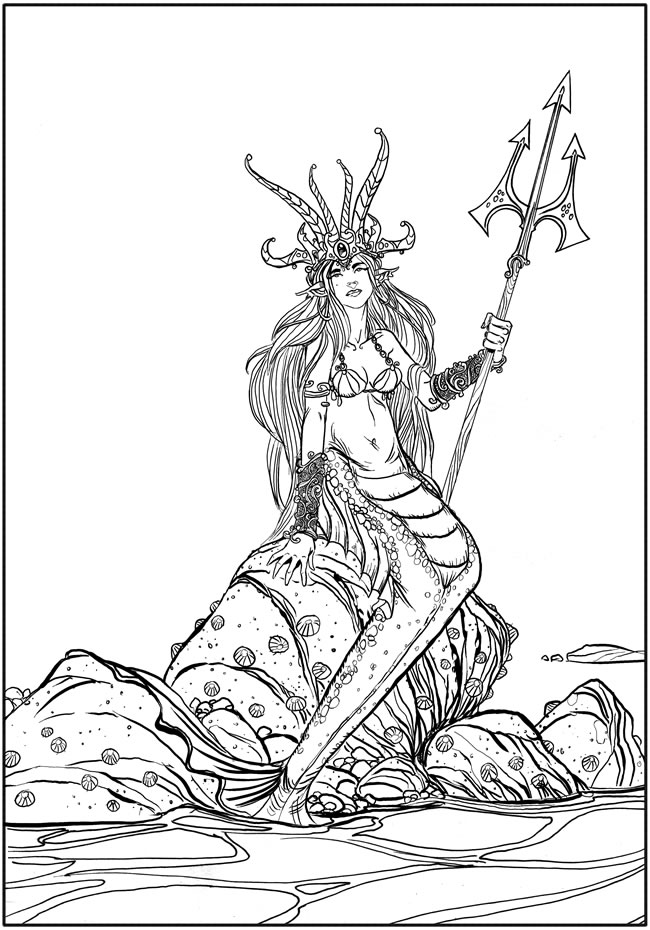 fantasy based coloring book pages - photo#27