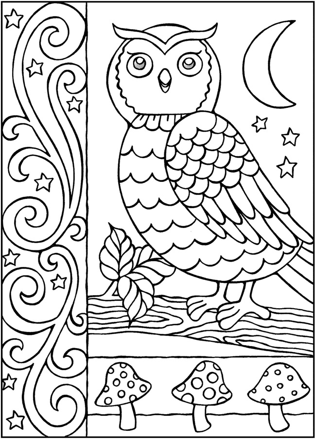 Owl Coloring Pages Forteens