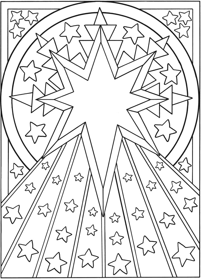 moon and star coloring pages - welcome to dover publications