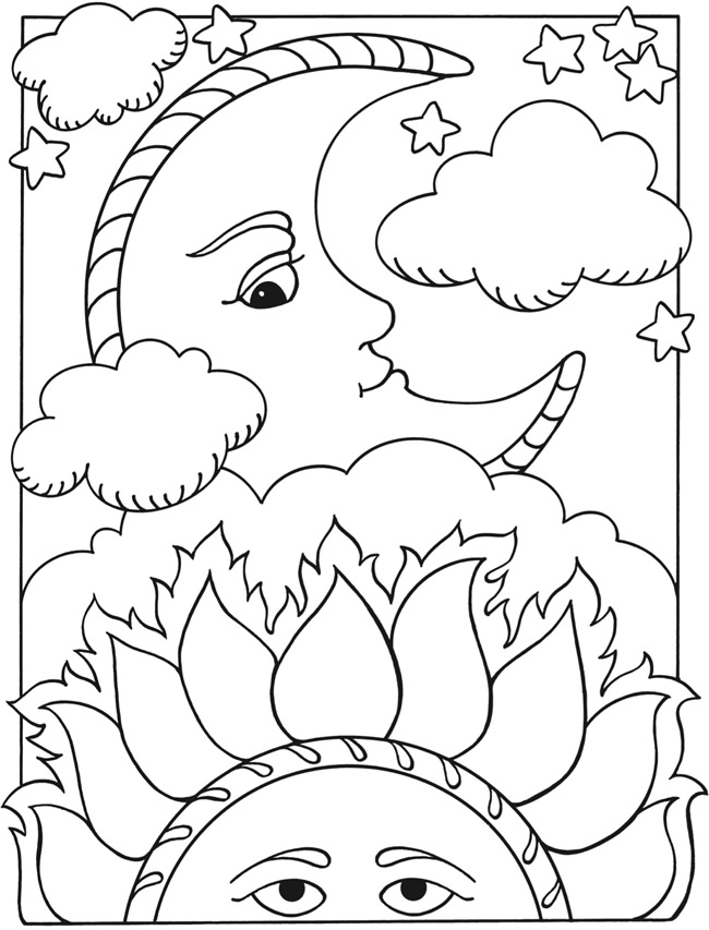 Solar eclipse free coloring pages for Eclipse coloring pages