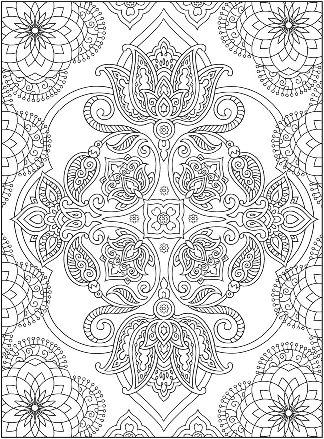 mehndi designs coloring book pages - photo#17