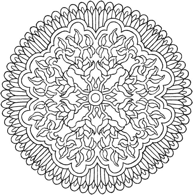 Images Of Mystical Mandalas Coloring Pages