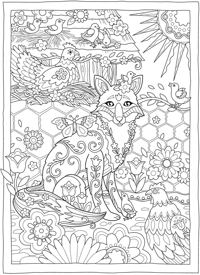 coloring pages for adults finished   Welcome to Dover Publications
