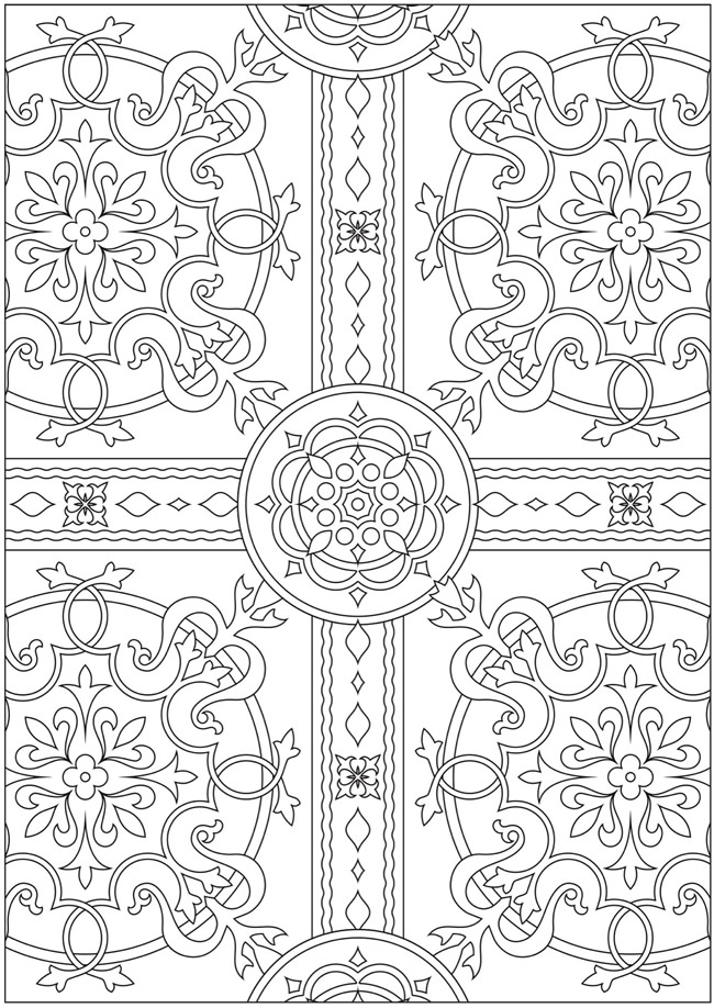 sample pages of adult coloring books | Welcome to Dover Publications