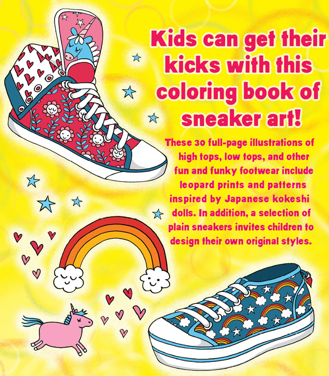 Dover Publications Sneaker Designs Coloring Book | Kleider