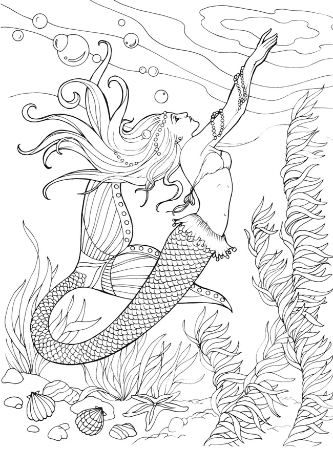 Pregnant Mermaid Pages For Adults