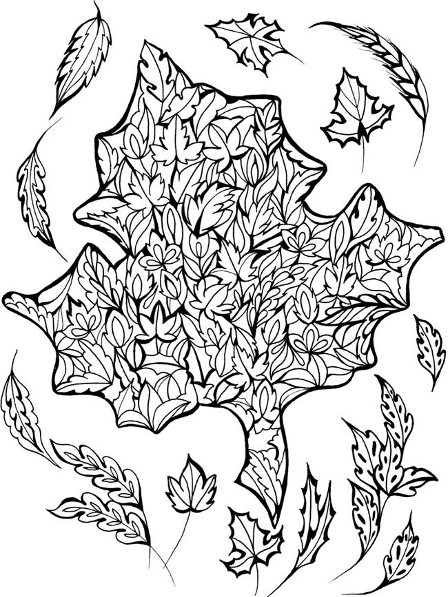 coloring pages with four seasons - photo#18
