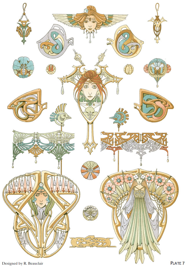 Jewelry Design Line Art : Welcome to dover publications