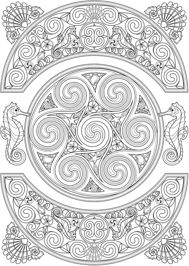 Creative Colouring Patterns Of Nature : Welcome to dover publications