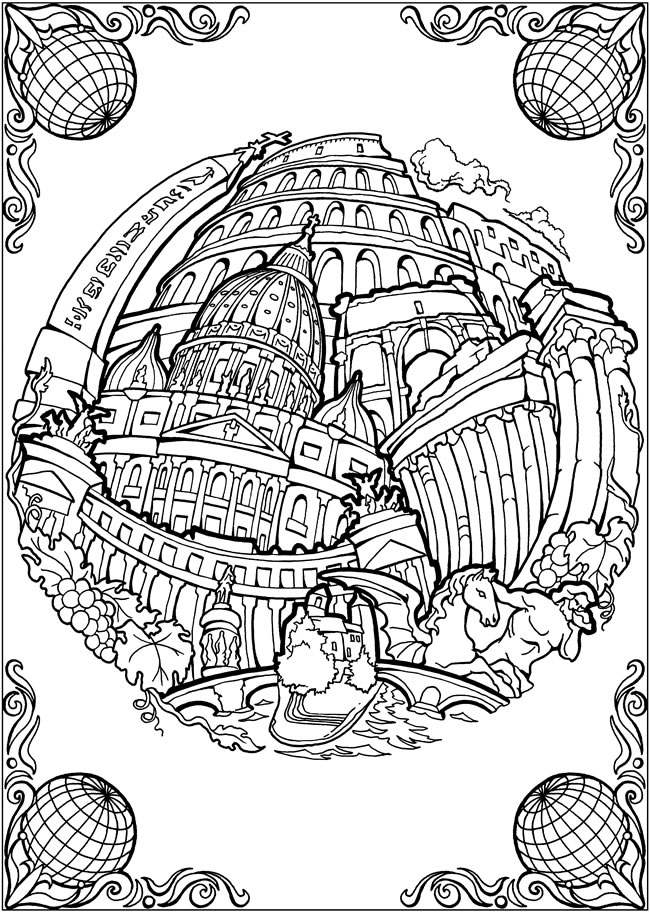 Welcome to dover publications for Coloring pages bliss